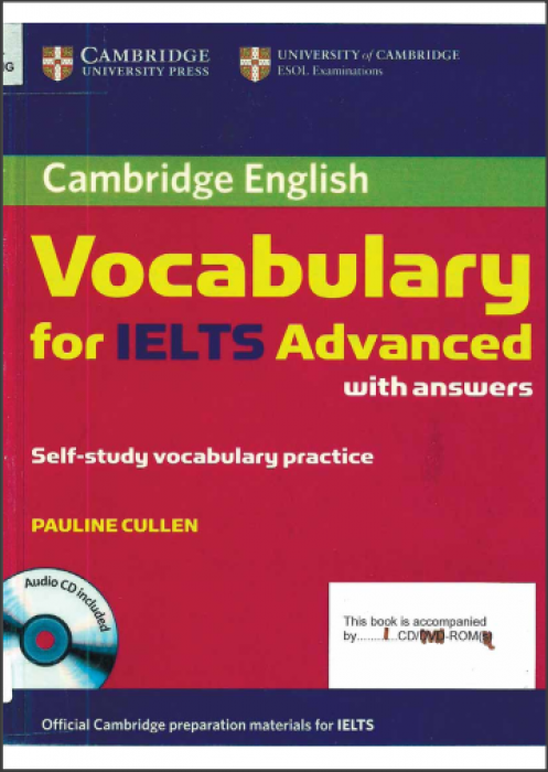 VOLCABULARY FOR IELTS ADVANCED