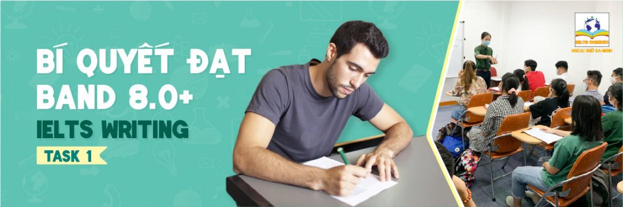 Bí quyết luyện thi IELTS WRITING cấp tốc Band 8.0+ – Task 01